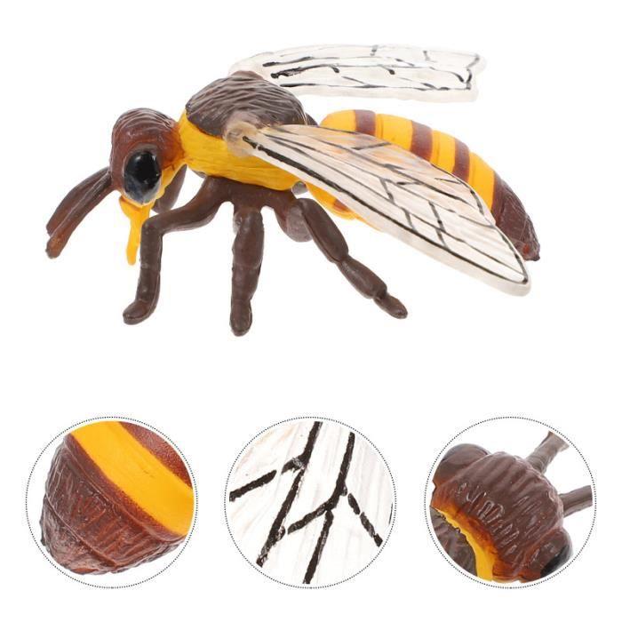 1PC Abeille figurine réaliste jouet éducatif modèle d'enseignement Prop figurine miniature - personnage miniature monde miniature