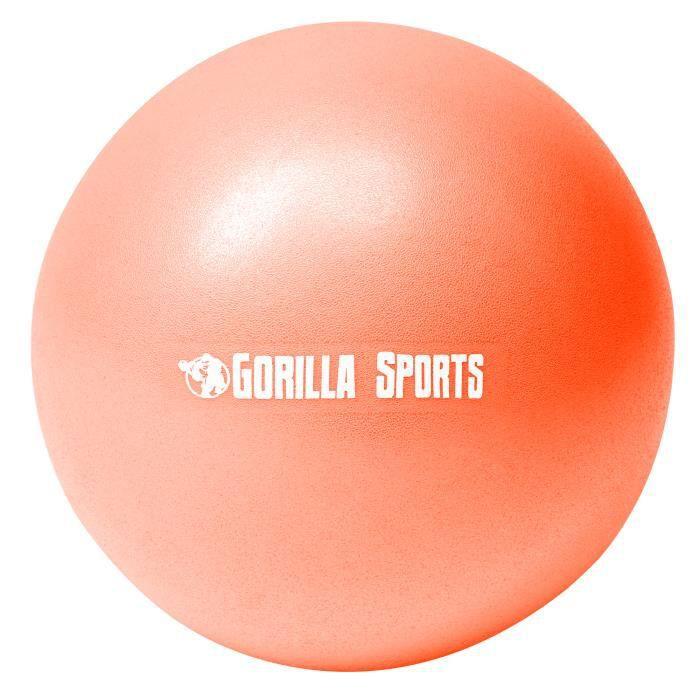 Mini-ballon d'exercice orange, ballon léger de Pilates Soft Ball - Diamètre : 23 cm