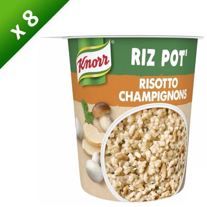 KNORR Mon Rice Pot Plat Déshydraté Risotto Champignons - Lot de 8x 75 g