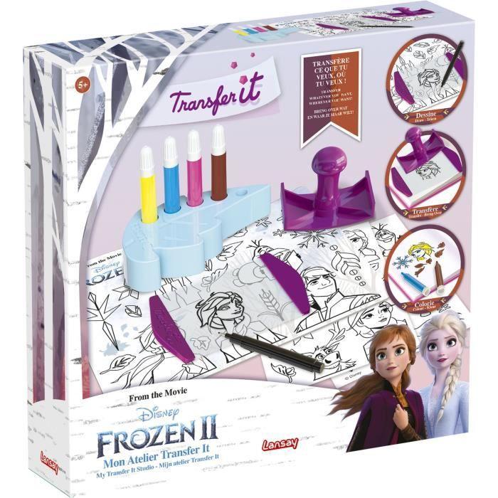 LANSAY La reine des neiges II Jeu de coloriage Transfer It Mon atelier - Fille - À partir de 5 ans