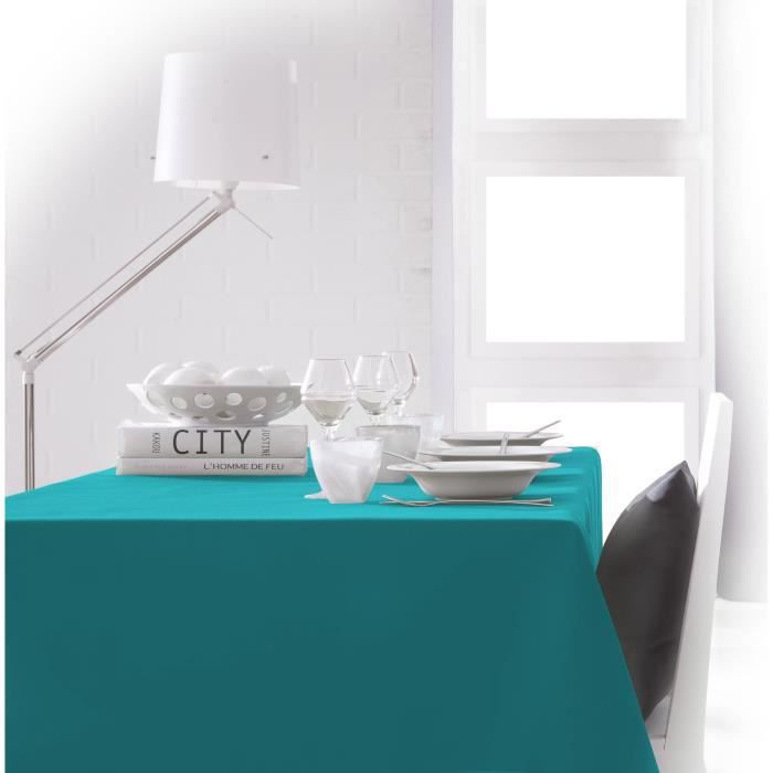 TODAY Nappe rectangulaire 140x200 cm - Bleu mer du sud