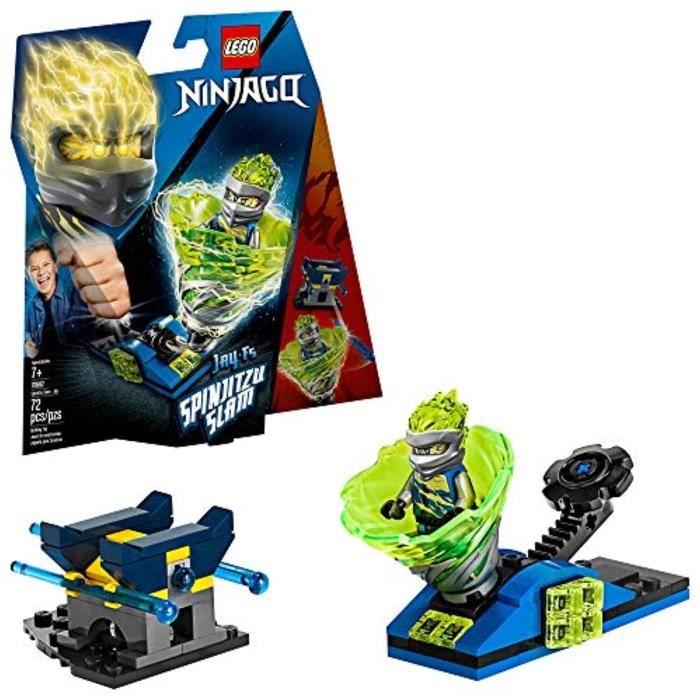 Jeu D'Assemblage LEGO OQ2GD Ninjago Spinjitzu Slam - Jay 70682 Kit de construction, nouveaux 2019 (72 Pieces