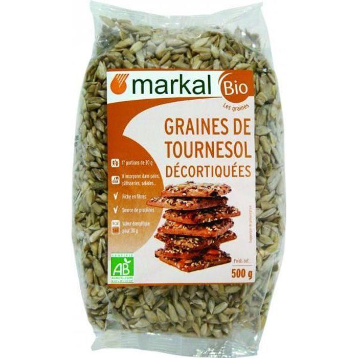 Graines de tournesol décortiquées, 500g, Markal