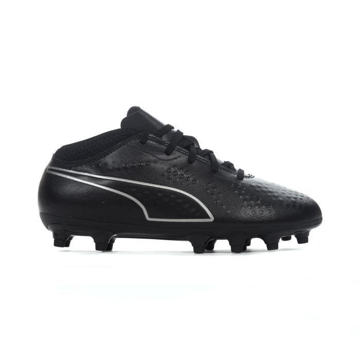 Chaussure de foot enfants Puma One 4 FG Firm Ground Eclipse Noir / Argent