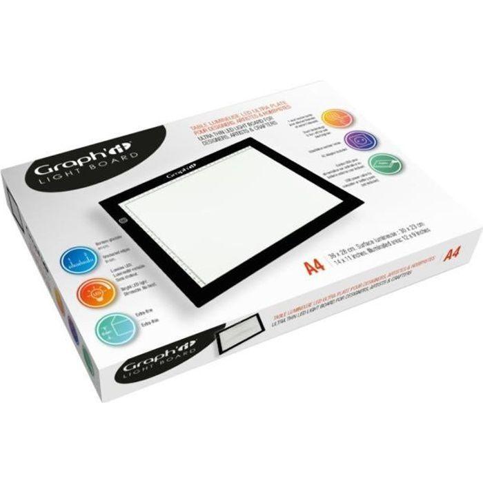 Tablette lumineuse A4 (23x30cm) de Graph'it