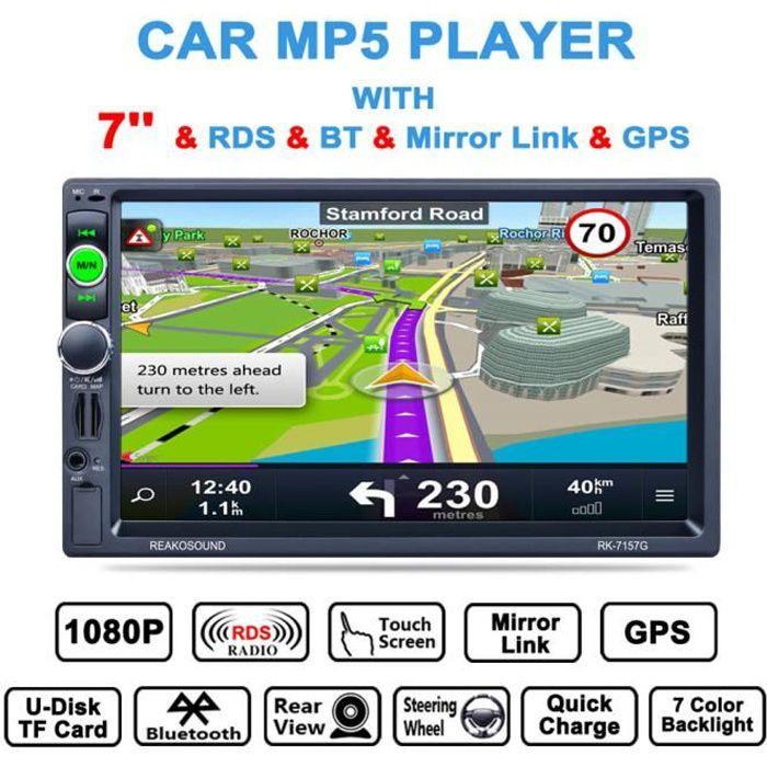 RK-7157G 7'' Voiture Stéréo Lecteur MP5 Autoradio Bluetooth sans fil Récepteur de voiture audio Multimedia player Rear View Camera