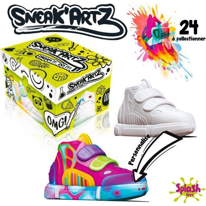 Sneak'Artz Shoebox - 1 Basket à customiser + accessoires - modèle aléatoire