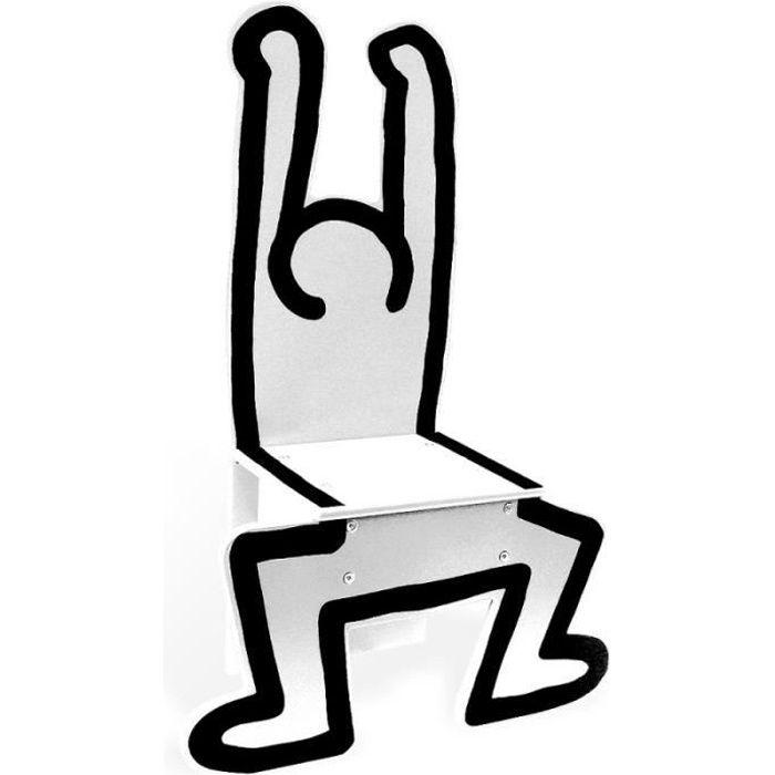 Poufs fauteuils et chaises - Chaise blanche Keith Haring - Vilac - Jeux et jouets