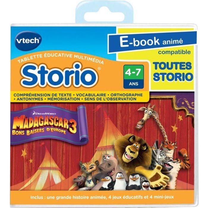 VTECH Jeu Educatif Storio Madagascar 3