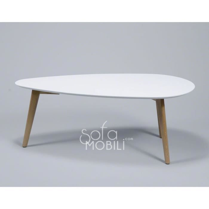 Table basse style scandinave blanc ou gris maja blanc for Petite table scandinave pas cher