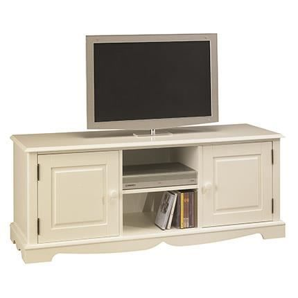 meuble tv hifi blanc charme de style anglais achat vente meuble tv meuble tv hifi blanc. Black Bedroom Furniture Sets. Home Design Ideas
