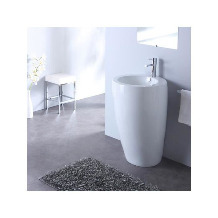 lavabo sur pied rond design blanc achat vente evier de cuisine 133007 lavabo sur pied rond. Black Bedroom Furniture Sets. Home Design Ideas