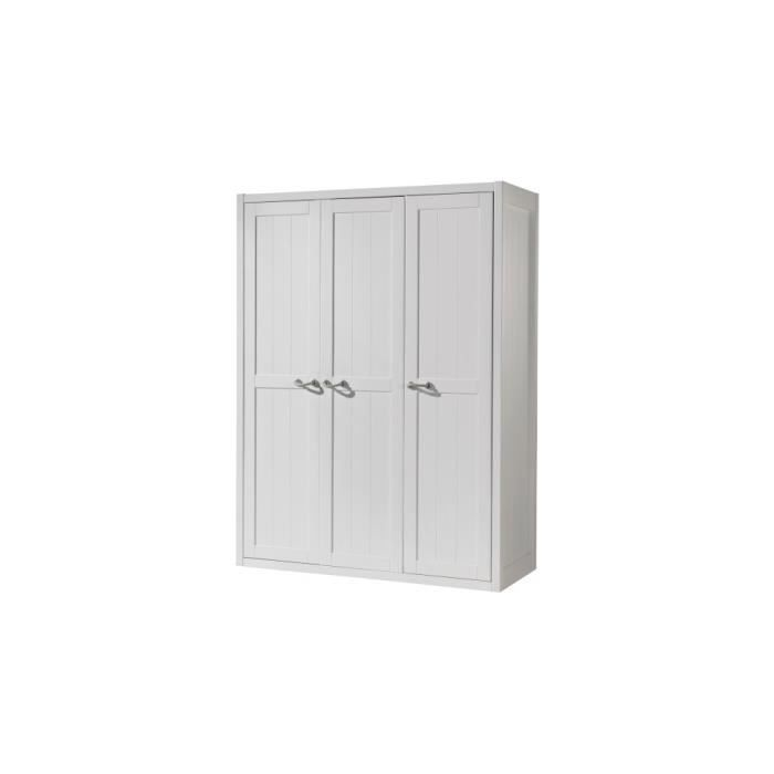 armoire 3 portes 6 etageres achat vente armoire 3 portes 6 etageres pas cher cdiscount. Black Bedroom Furniture Sets. Home Design Ideas