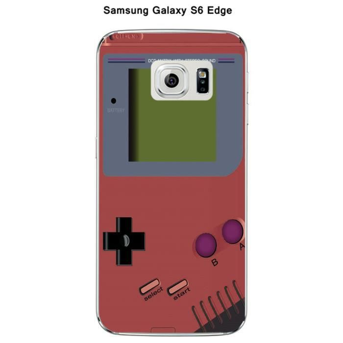 coque samsung galaxy s6 edge game boy marsala achat. Black Bedroom Furniture Sets. Home Design Ideas