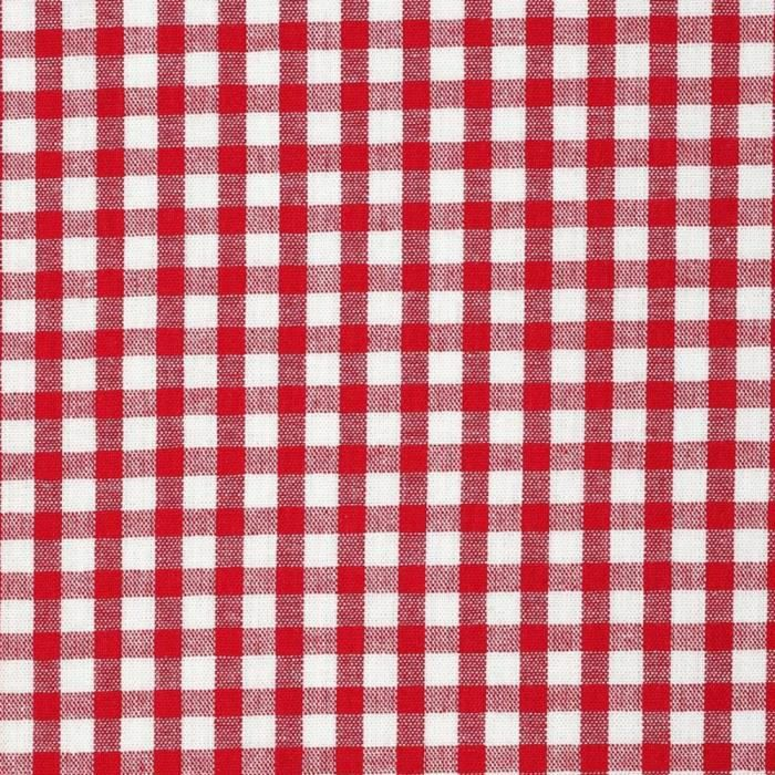 TISSU Tissu au mètre coton Polyester vichy rouge 140 cm