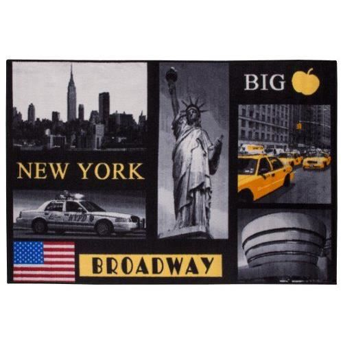 andiamo 1100333 tapis motif ville de new york 120 x 170 cm achat vente tapis soldes d t. Black Bedroom Furniture Sets. Home Design Ideas