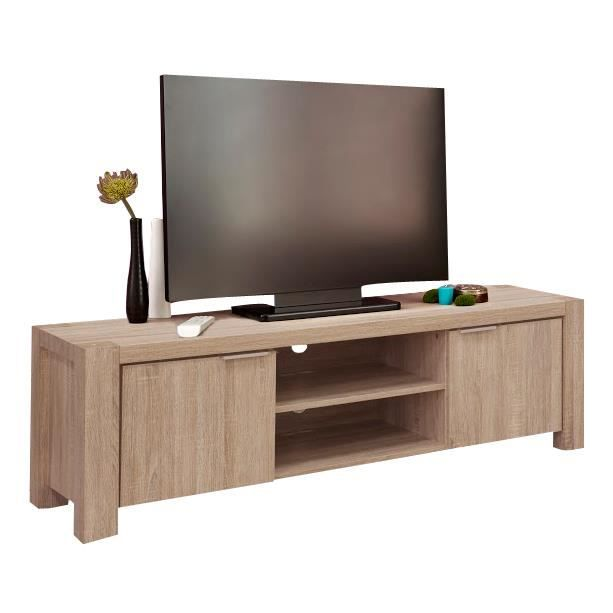 meuble tv hifi coloris sonoma clair 150 cm sonoma clair. Black Bedroom Furniture Sets. Home Design Ideas