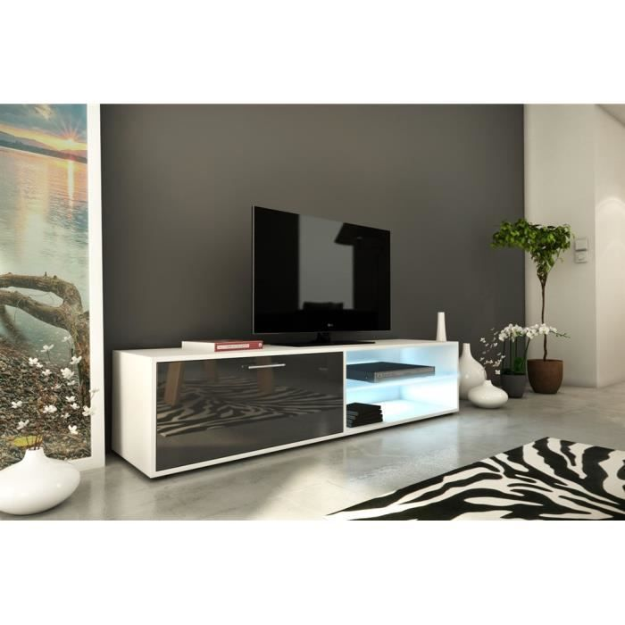 meuble tv 160cm avec led h36 sofia gris achat vente meuble tv meuble tv 160cm avec led h3. Black Bedroom Furniture Sets. Home Design Ideas