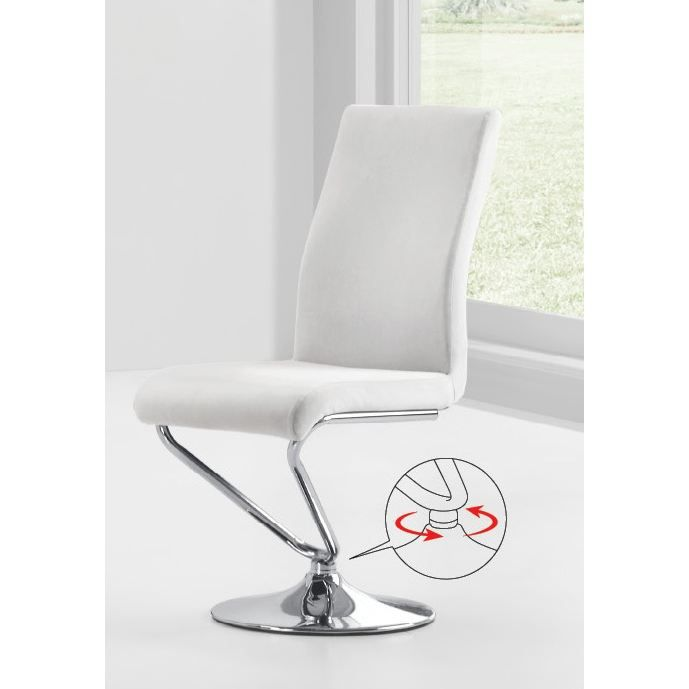 Chaises design blanc turn par2 achat vente chaise mati re de la structu - Cdiscount chaise design ...