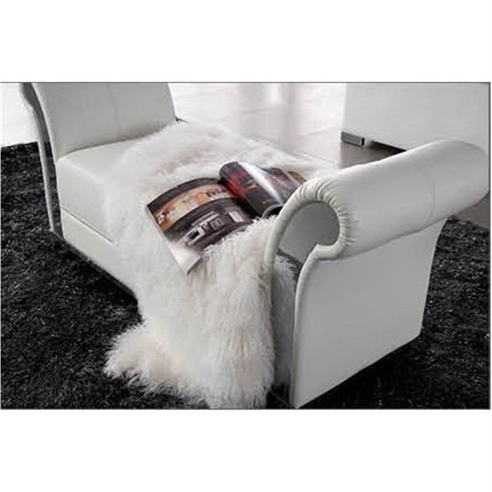 fauteuil pouf design capitonne blanc achat vente fauteuil cdiscount. Black Bedroom Furniture Sets. Home Design Ideas