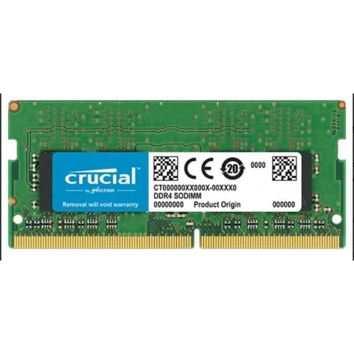 MÉMOIRE RAM Mémoire CRUCIAL 2GB DDR4 2400 MT/s (PC4-19200) CL1