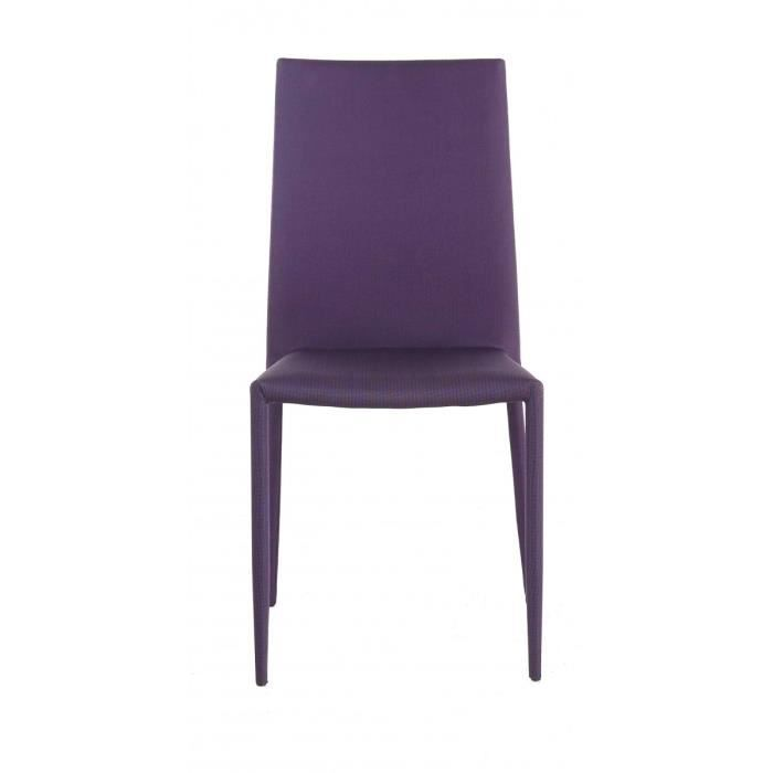 2x Chaise Tissu Violet Maddison Id Click Achat Vente Chaise Violet Cdiscount