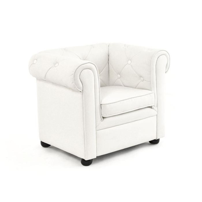 fauteuil enfant blanc baby chesterfield achat vente. Black Bedroom Furniture Sets. Home Design Ideas