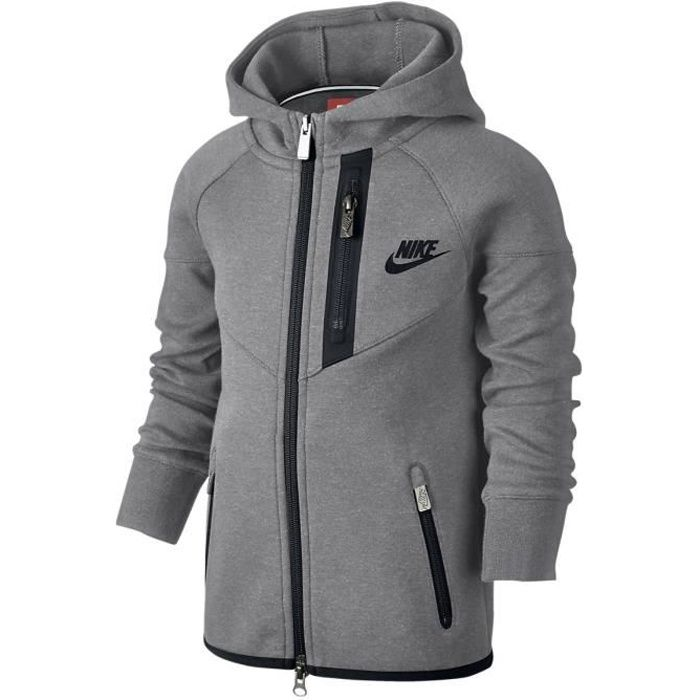 358cddafe555f Sweat Nike Tech Fleece Full-Zip Hoodie Cadet - Ref. 728536-091 Gris ...