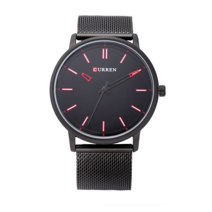montres homme quartz cuir analogique simple curren achat vente montre montres homme quartz. Black Bedroom Furniture Sets. Home Design Ideas