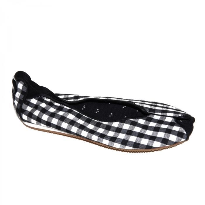 Osiris samples shoes BALLERINE  LOVELY BLACK WHITE WOMEN Noir et Blanc - Chaussures Ballerines Femme