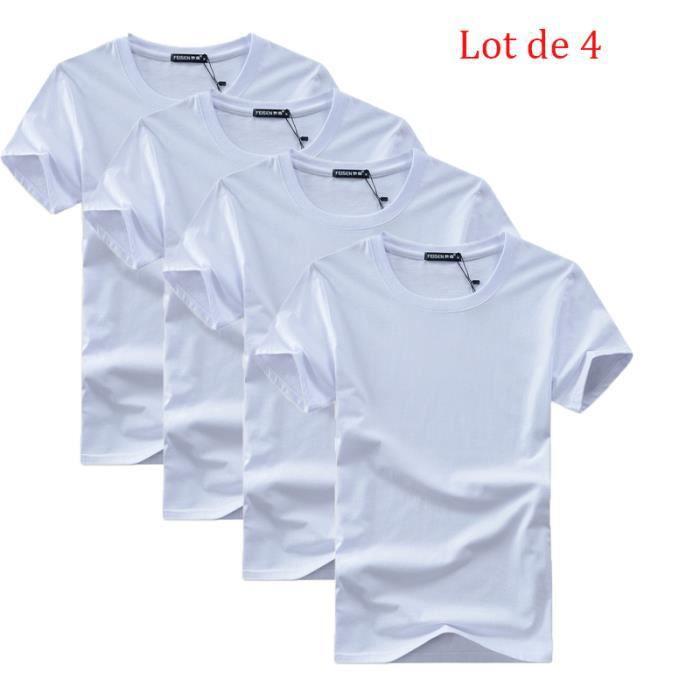 Lot de 5 T shirt Homme uni XXXXXL basique