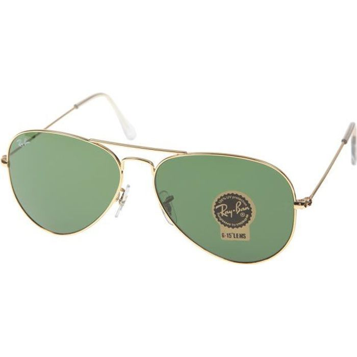Lunettes de soleil ray ban aviator junior for Ray ban aviator miroir homme