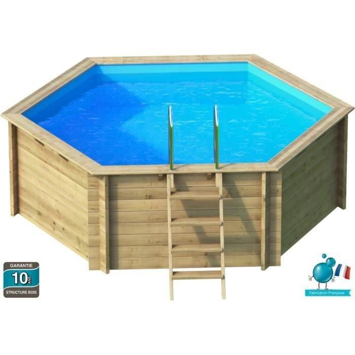 tropic piscine bois hexagonale 4 10m hauteur 1 20m achat vente piscine piscine bois. Black Bedroom Furniture Sets. Home Design Ideas