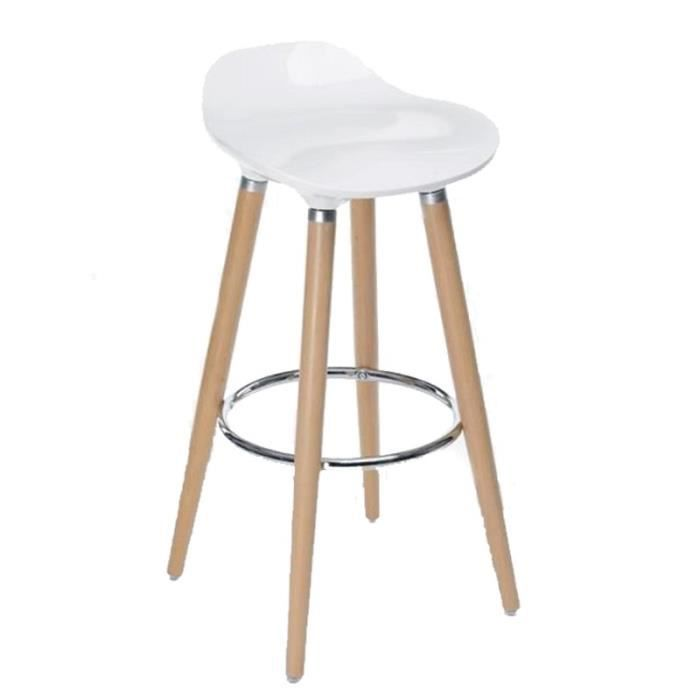 tabouret de bar filel 80cm blanc paris prix achat. Black Bedroom Furniture Sets. Home Design Ideas