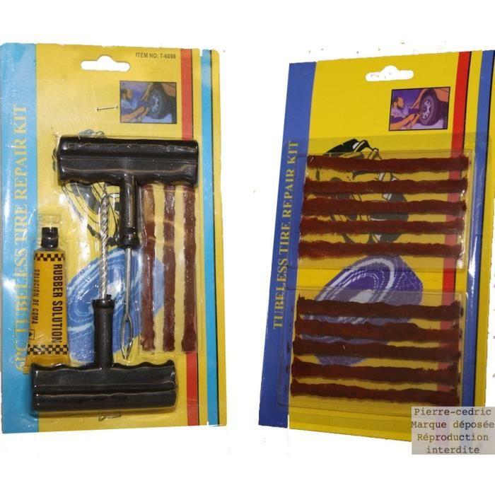Kit De Reparation Tubeless Crevaison Pneus Voiture Achat Vente Reparation Pneu Kit De Reparation Tubeless A Prix Casse Soldes Sur Cdiscount Des Le 20 Janvier Cdiscount
