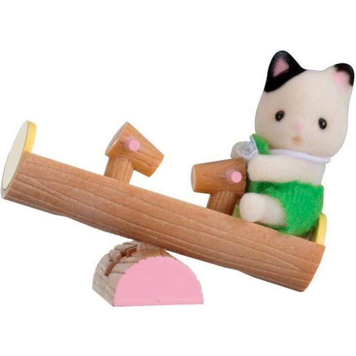 sylvanian 5205 valisette b b chat balan oire double achat vente figurine personnage. Black Bedroom Furniture Sets. Home Design Ideas