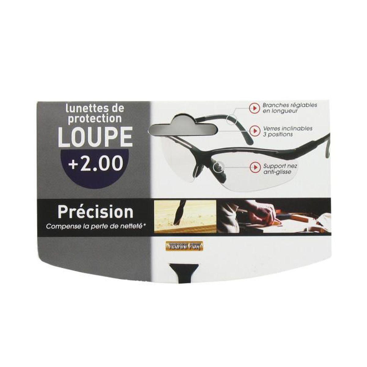 Lunette de protection loupe précision 2.00
