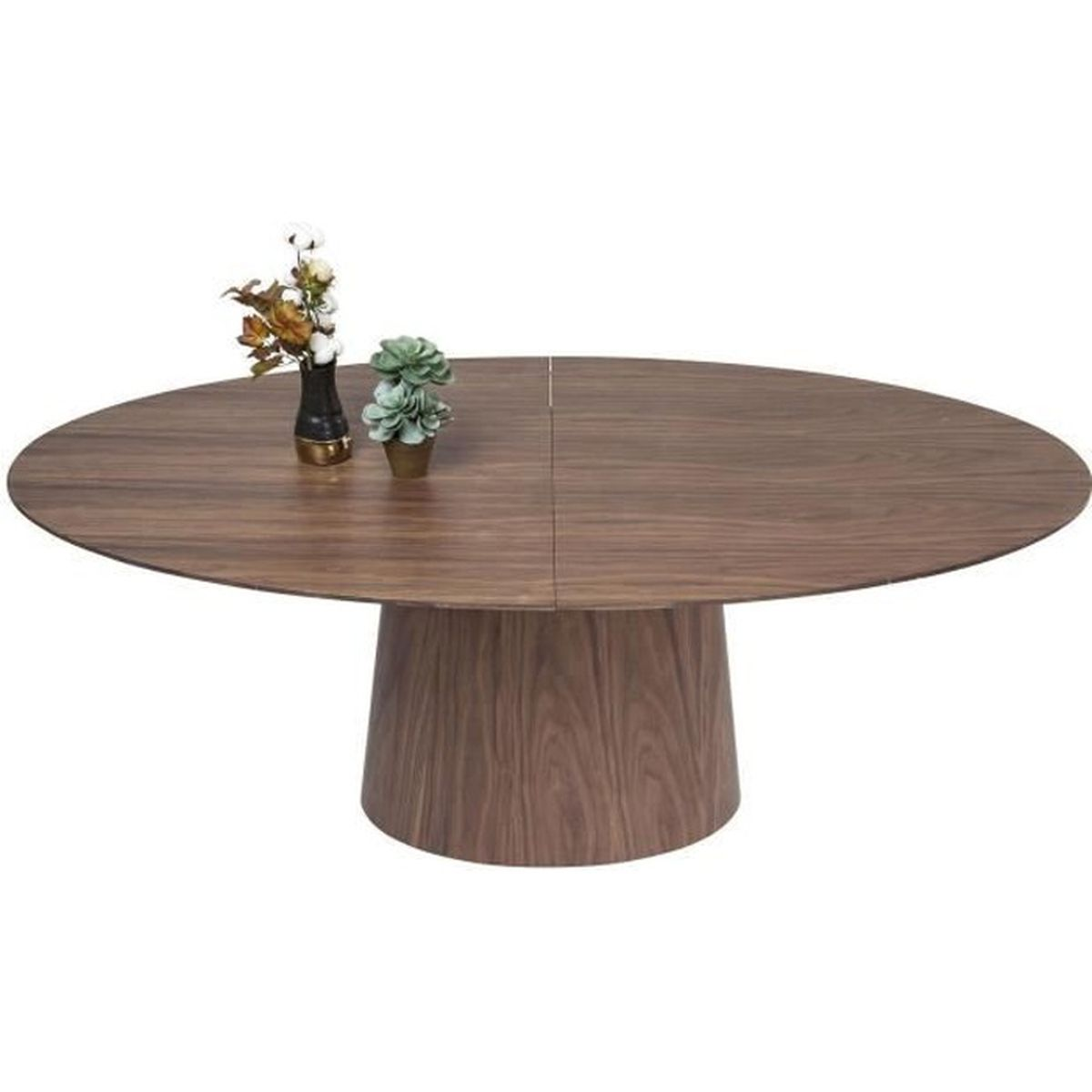 Table rallonges benvenuto noyer kare design achat for Table a manger a rallonge design