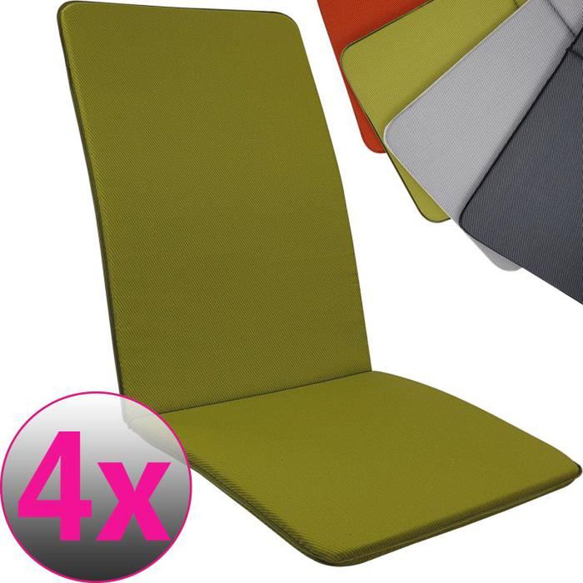 Coussins pour chaise à dossier haut chaise fauteuil chaise de jardin Jardin Coussin Oreiller Coussin