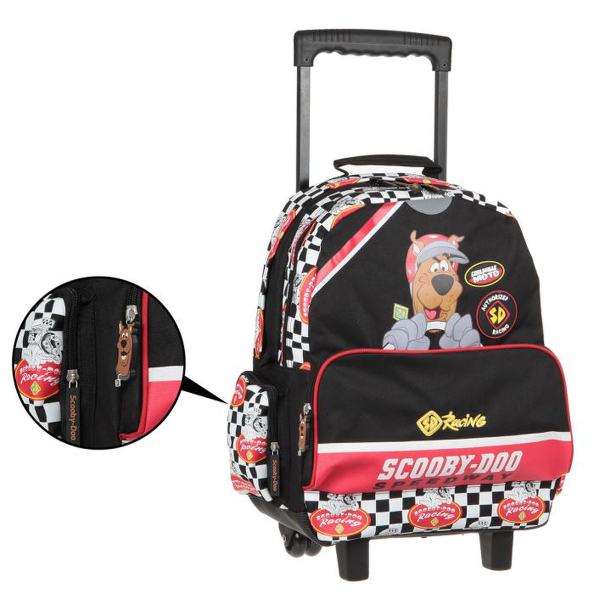 scooby doo sac dos roulettes enfant gar on noir et rouge achat vente sac dos. Black Bedroom Furniture Sets. Home Design Ideas