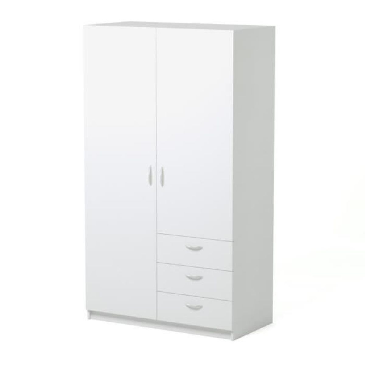 varia armoire de chambre style contemporain blanc l 97. Black Bedroom Furniture Sets. Home Design Ideas