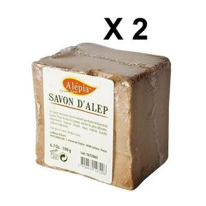 SAVON - SYNDETS ALEPIA Lot de 2 Savon d'Alep 190 g x 2