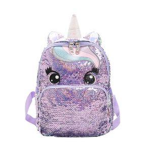 SAC À DOS Sac A Dos IJSYZ Glitter Unicorn Sac à dos école de