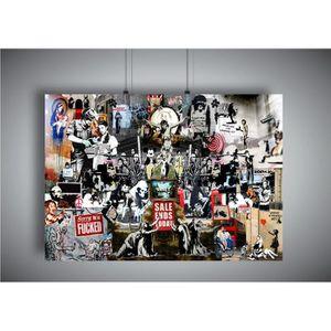 AFFICHE - POSTER Poster BANKSY 02 STREET ART GRAFFITI Wall Art - A3