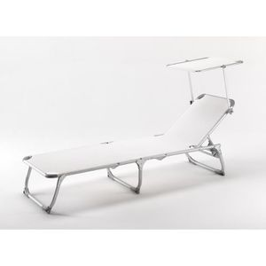 Chaise longue transat 3 position achat vente chaise for Transat de plage pliant
