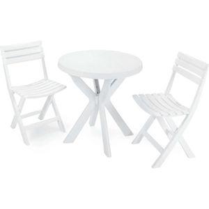 SALON DE JARDIN  Ensemble table et chaises Balcon