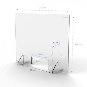 RÉCEPTACLE SANITAIRE Hygiaphone écran vitre de protection paroi commerc