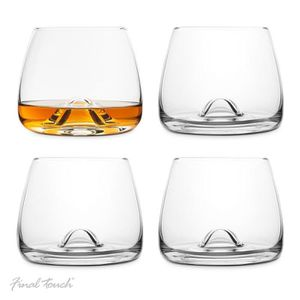 WHISKY BOURBON SCOTCH Final Touch PACK OF 4 100% Lead-free Crystal Whisk