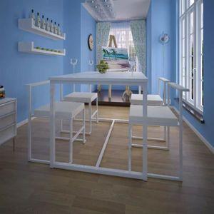 TABLE DE CUISINE  Ensemble de table et chaises de salle à manger 5 p