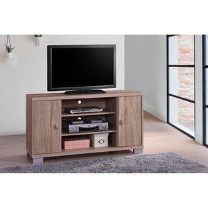 MEUBLE TV Meuble TV BELEK 120 cm à 2 portes et 3 niches colo